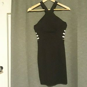 NBW Speechless black cocktail dress.